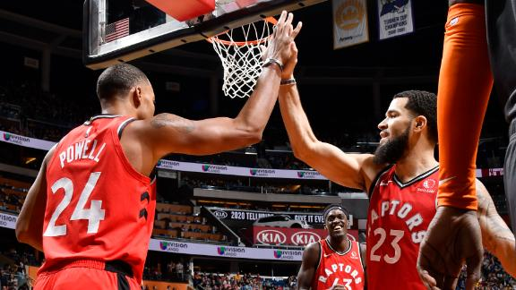 Powell, VanVleet lead Raptors to 6th straight win