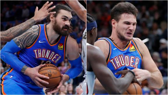 Adams, Gallinari propel Thunder to close win