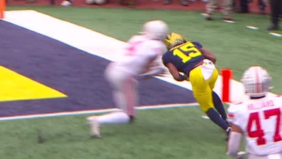 Jackson puts Michigan on the board with 22-yard TD