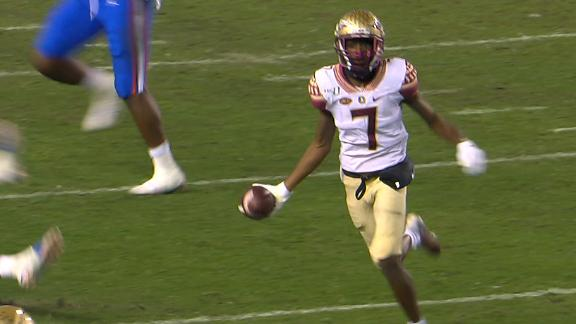 FSU WR underhands pass on incredible effort