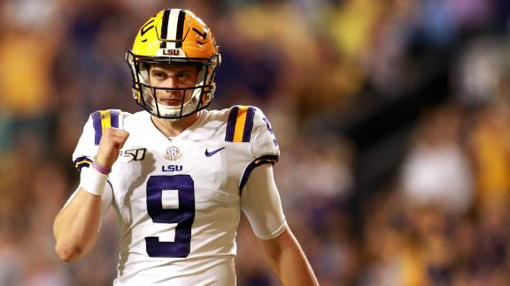 Burrow sets SEC records, leads LSU past Texas A&M