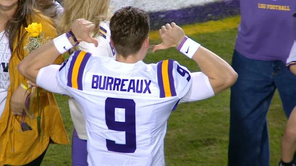 Joe Burrow wears pregame 'Burreaux' jersey for Senior Night