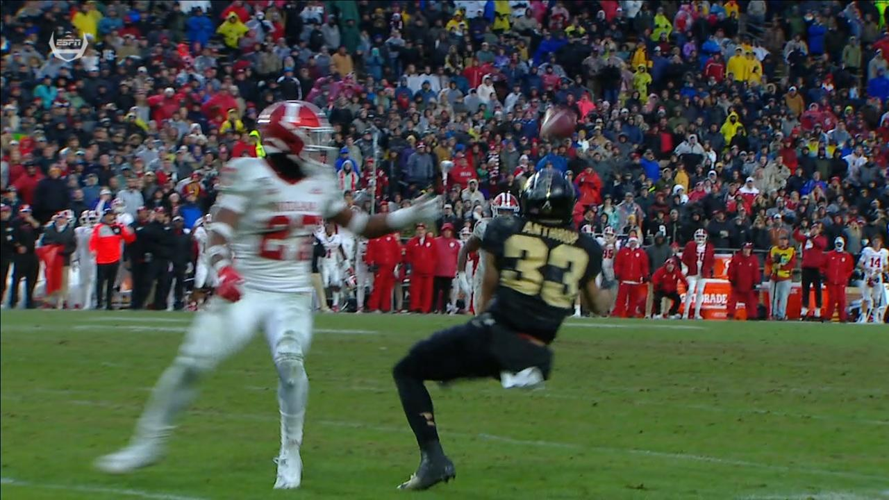 Purdue gets lucky deflection for big gain in OT
