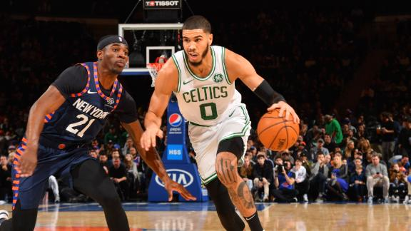 Tatum drops 30 in Celtics comeback win over Knicks