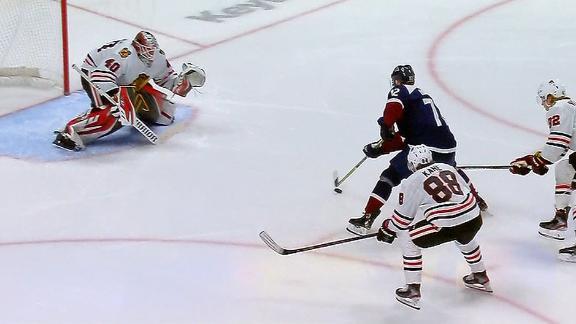 Kadri, Donskoi lead Avs' rout of Blackhawks