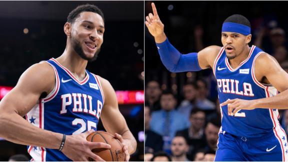 Simmons, Harris lead 76ers past Jazz