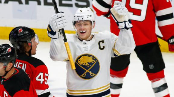 Sabres score 5 1st-period goals in rout of Devils