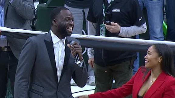 Draymond gets emotional at MSU jersey retirement
