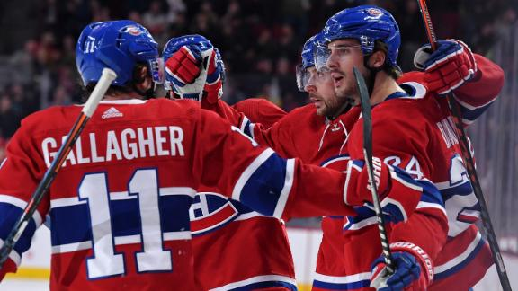 Gallagher taps in goal to extend Canadiens' lead