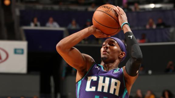 Graham ties Hornets' record hitting 10 3's