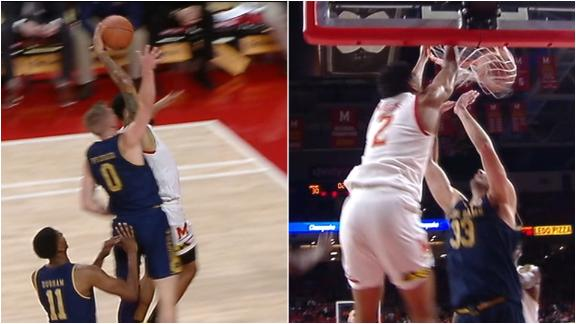 Maryland has no regard for the rim, throw down back-to-back slams