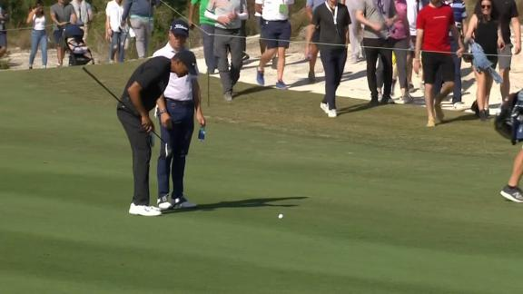 Tiger trolls Thomas after outdriving him