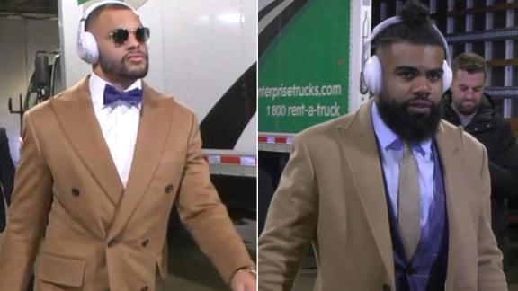 Dak and Zeke arrive for Cowboys vs. Bears