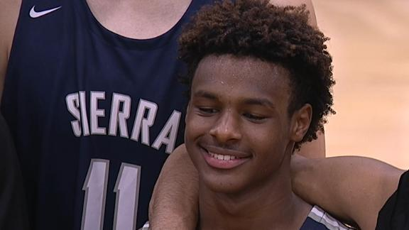Bronny balls just like his dad in Sierra Canyon slam fest