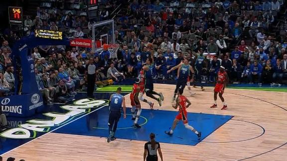 Doncic sends trick pass to Powell