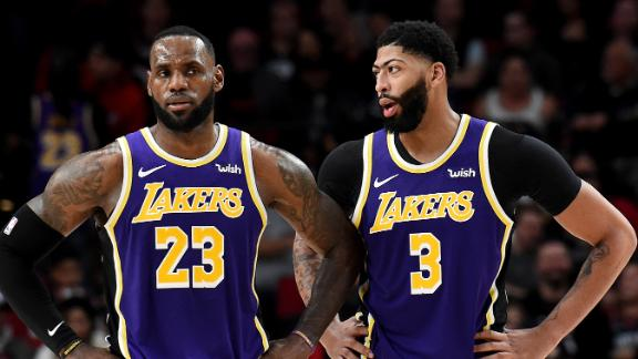 AD, LeBron combine for 70 in win over Blazers