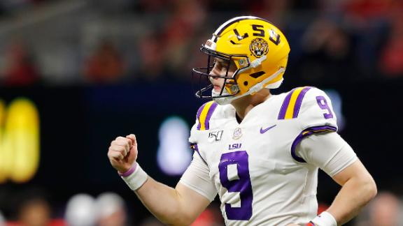 Burrow spawns 4 TDs as LSU walks over Georgia to win SEC