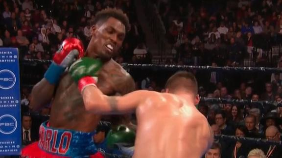 Charlo knocks Hogan down twice en route to victory