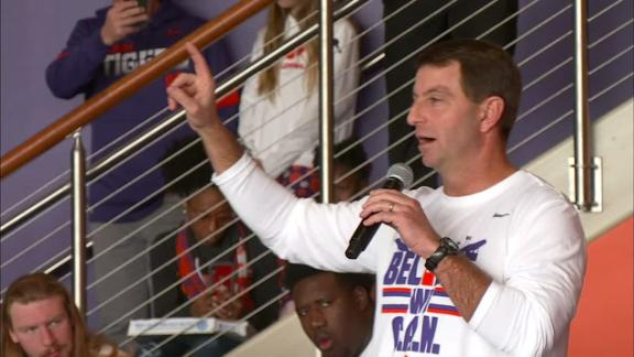 Dabo jokes about Clemson's No. 3 ranking