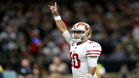 Garoppolo throws 4 TDs in wild 49ers win
