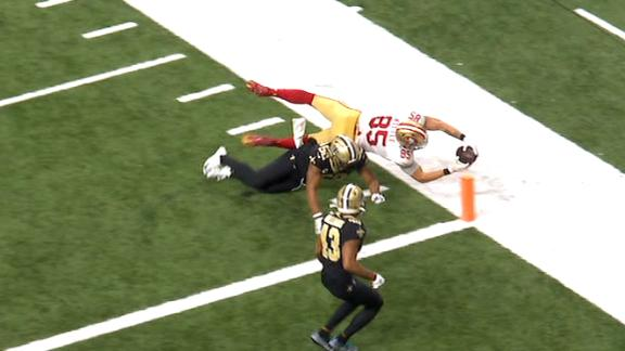 Kittle dives for the TD