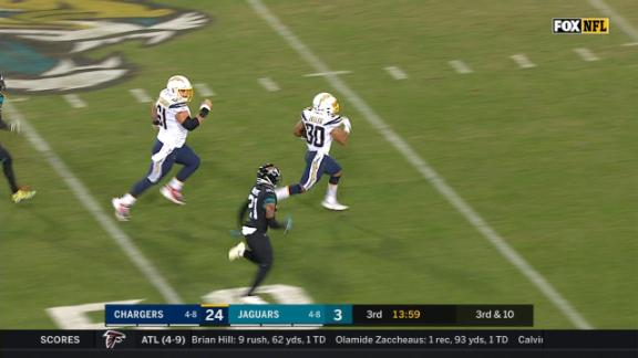 Ekeler burns Jags defense for 84-yard TD