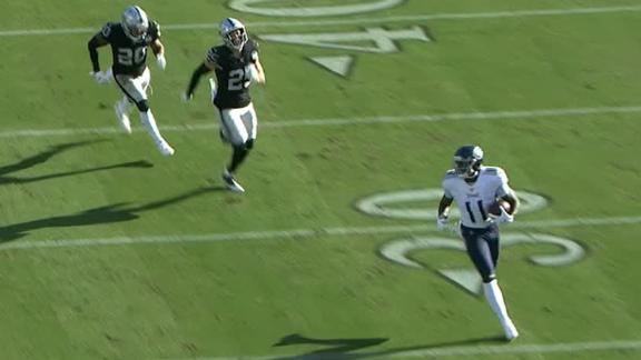 Tannehill drops dime to Brown for 91-yard TD