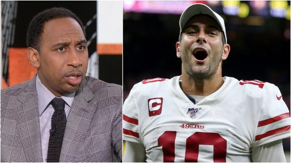 Stephen A. still not ready to give Jimmy G high honors