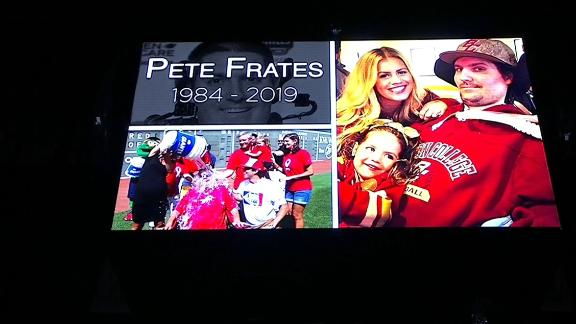 Celtics pay tribute to Frates with moment of silence