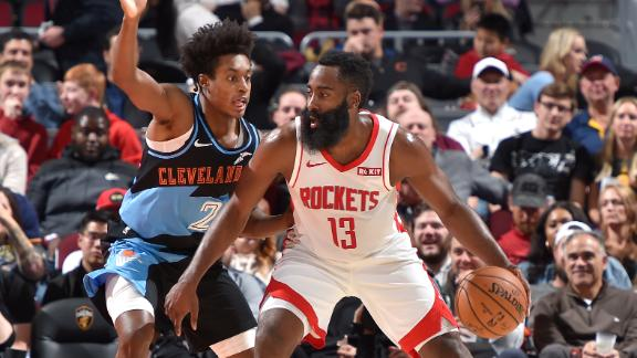 Harden drops 24 in first half