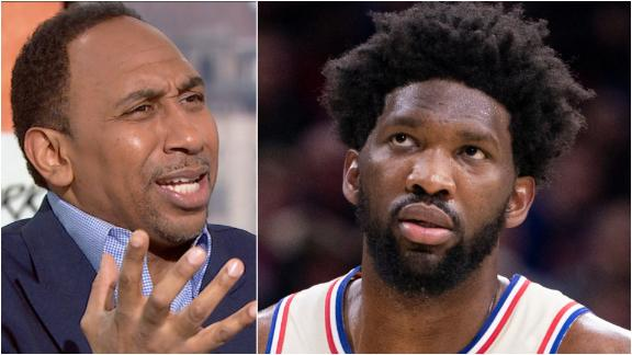Stephen A. questions Embiid's competitive fire