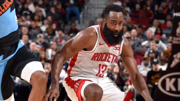 Harden's 55 points fuels Rockets to road win