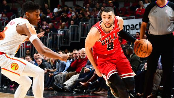 LaVine dunks, stays perfect from 3 in Bulls' win
