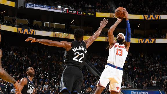 Knicks snap 10-game losing streak vs. Dubs in OT thriller