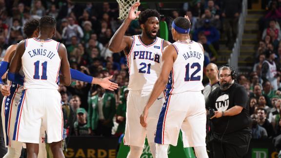 Embiid scores 38 points vs. Celtics
