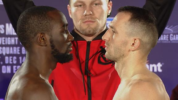 Crawford, Kavaliauskas square off at weigh-in