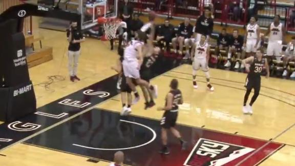 Eastern Washington's Groves flies in for a putback slam