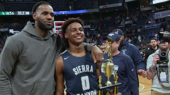 Bronny shows out in front of dad, clutch in Sierra Canyon's win