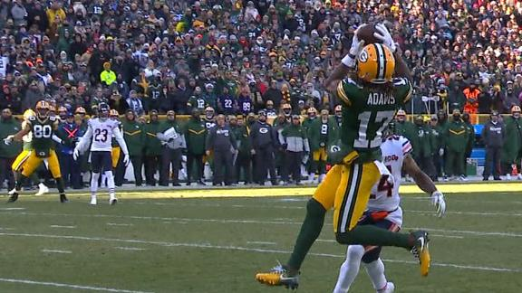 Packers' gutsy 4th-down call pays off with Rogers' TD pass to Adams