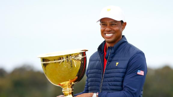 Tiger leads U.S. rally for Presidents Cup win