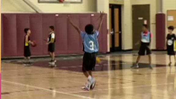 Swaggy P's son celebrates made basket