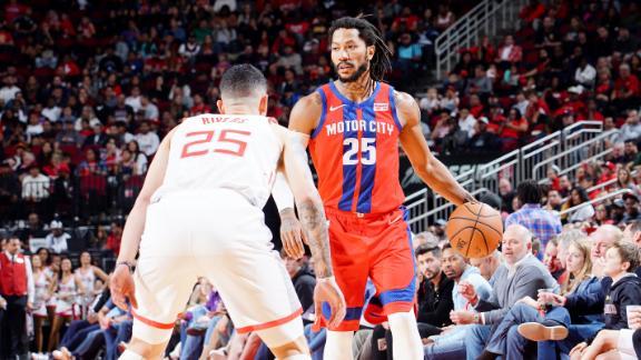 Rose drops double-double in Pistons win