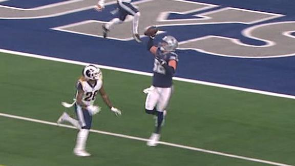 Witten channels OBJ with one-handed TD grab