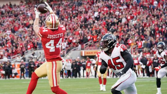 Juszczyk recovers fumble on punt, then is rewarded with a TD