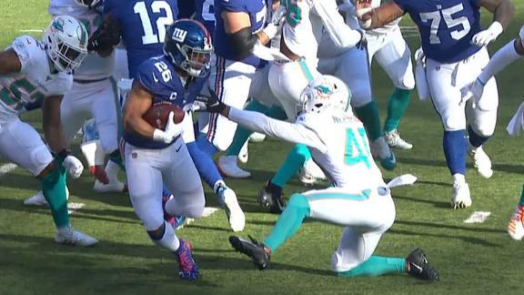 Barkley breaks Needham's ankles with a slick juke