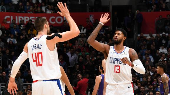 PG drops 24 points in Clippers' thrashing of Suns
