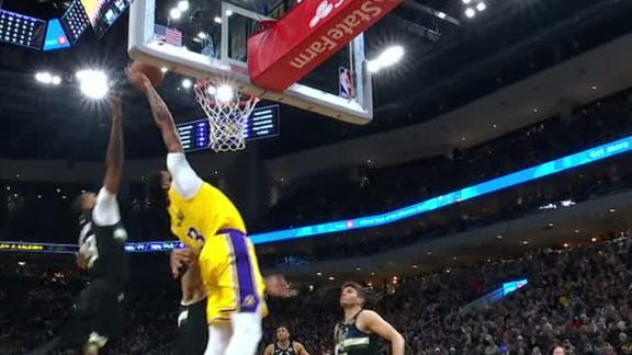 AD tips in Rondo's alley-oop pass