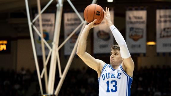 Duke's Baker drops career-high 22 points vs. Wofford
