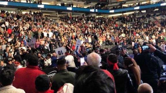 Pandemonium ensues as Chavez Jr. exits the ring