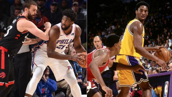 Kobe details Embiid's baseline spin